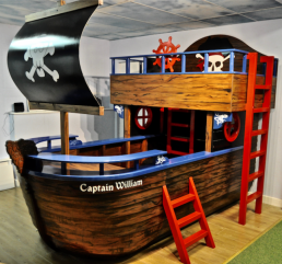 pirate ship kids bed