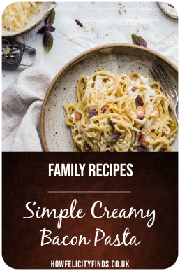 Simple Creamy Bacon Pasta
