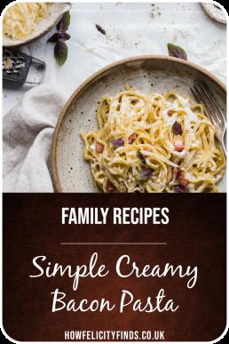 Simple Creamy Bacon Pasta