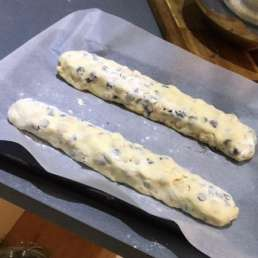 biscotti ready to bake