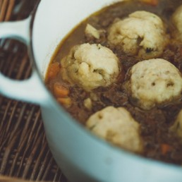 mince and doughballs