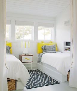 monochrome guest room