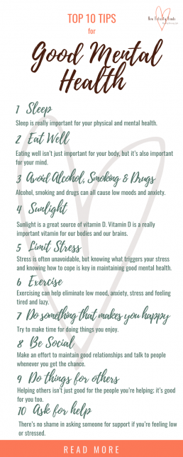 10 Top Tips For Good Mental Health