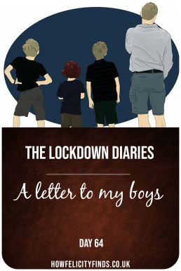 a letter to my boys