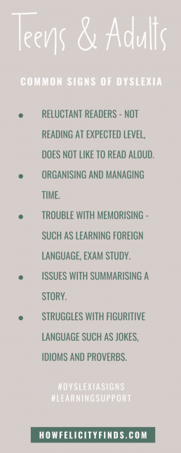 DYSLEXIA SYMPTOMS _ TEENS & ADULTS SIGNS OF DYSLEXIA _ SIGNS OF DYSLEXIA