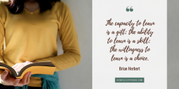 Anxiety Attacks - Quotes about learning _ Quotes about life _ Brian Herbert Quote _ The capacity to learn is a gift