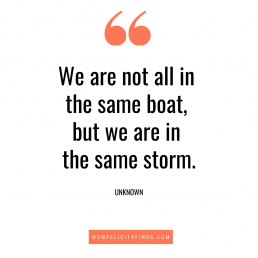 Quotes about LOCKDOWN | wEARE ARE NOT ALL IN THE SAME BOAT QUOTE